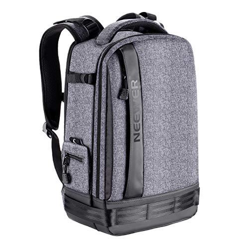 Neewer Kamera Rucksack Abnehmbare gepolsterte Kameratasche für DSLRs spiegellose Kameras Objektive Stative 13-Zoll Laptop und anderes Zubehör mit Regenschutz (grau)