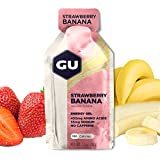 GU Energy Original Sports Nutrition Energy Gel, 8-Count, Strawberry Banana