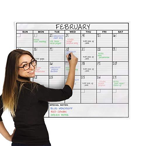 OfficeThink(オフィスシンク)『大型ラミネートホワイトボードシート月間スケジュール表』
