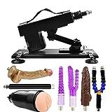 Máquina de empuje sexual 3XLR con diversos accesorios, juguete de placer ajustable en ángulo y velocidad para adultos