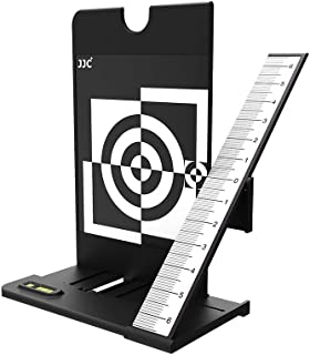 JJC Professional Camera Lens Auto Focus Calibration Tool Chart,Help Fine Tune Focus of Lens via Select DSLR Camera Has AF Fine Tune AF Micro Adjustment Function to Achieve the Greatest Image Sharpness