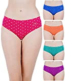 RVB Fashions Womens Cotton Printed Panty Combo, Multi Colour (Pack of 5), Inner Elastic (85 CMS (M))