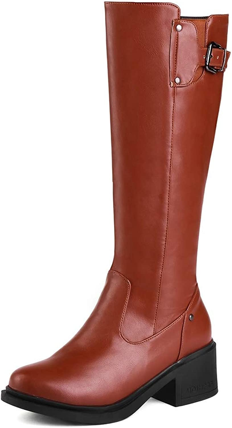 T-JULY Women Winter Boots Fashion Warm Knee-High shoes