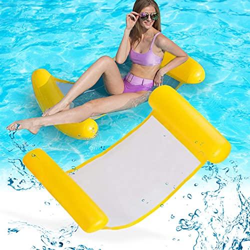 ASANMU Schwimmhängematte, Aufblasbares Schwimmbett Hängematte Wasserhängematte luftmatratze Pool Aufblasbares Schwimmen Schwimmbad Luftmatratze Wasser-Hängematte für Erwachsene Schwimmbett für Sommer