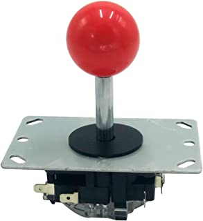 Tongmisi 8 Way Arcade JoystickLong ShaftStick with Microswitch for PC Console Fighting Game (Red Top Ball)