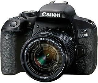 طقم عدسات كانون EOS 800D 18-55 مم IS STM + بطاقة ذاكرة 16 جيجا + حقيبة حمل + مجموعة حزمة حامل ثلاثي