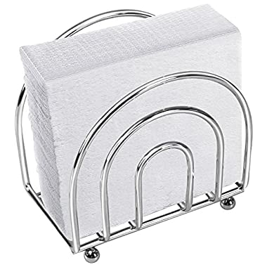 Metal Napkin Holder With Chrome Finishing - Decorative Flat Wire – by Utopia Home