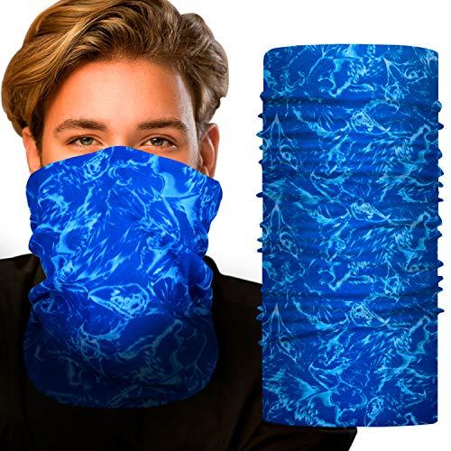 Faminess Gesichtsmaske Multifunktionstuch Damen Herren Elastische Halstuch Nahtlose Sturmhaube Sturmmaske Schlauchtuch für Yoga Laufen Wandern Radfahren Motorradfahren