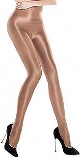 Ulalaza Damen glänzende Öl Strumpfhosen Strumpfhosen Socken Ultra schimmernd Shaping Dance Plus Size Footed 70D 60D 100D
