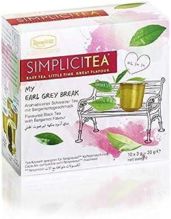 Ronnefeldt SimpliciTea My Earl Grey Break, Aromatisierter Schwarzer Tee mit Bergamottegeschmack, 10 Teekapseln à 3 g