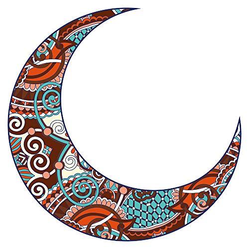 Wandtattoo Orient Wandsticker Mondsichel mit bunten Ornamenten orientalische Wa