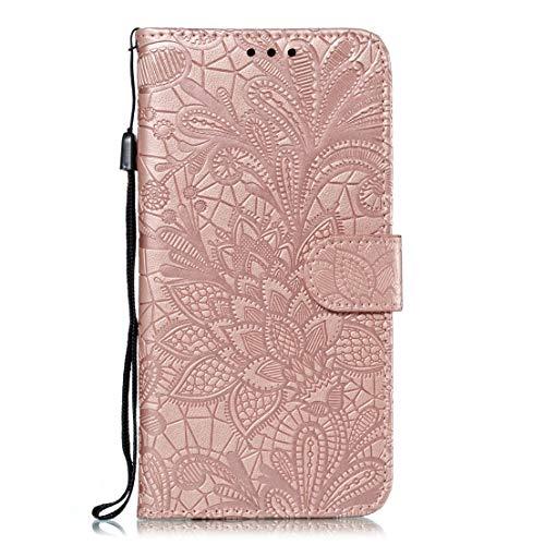 kompatibel mit Samsung Galaxy J4 Plus Hülle,Galaxy J4 Plus Lederhülle,Bling Glitzer Blumen PU Leder Flip Handyhülle Tasche Hülle Brieftasche Etui Schutzhülle Wallet Hülle,Lila