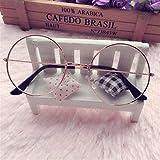 SLAKF Gafas duraderas Lentes de Color Novedad Gafas de Sol Mujeres del Estilo Hip Hop Sunglases Redondo Retro Accesorios de los vidrios de Tendencias de Viajes de Verano (Color : As The pic)