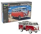 Revell Modellbausatz Auto 1:24 - Volkswagen VW T1 Bulli Samba Bus  im Maßstab 1:24, Level 5,...