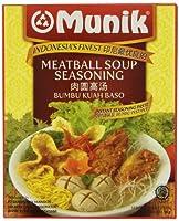 Munik クアバクソミートボールスープ調味料、58グラム
