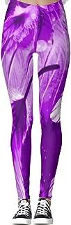 Pantalones de yoga púrpura Angel Dreams Leggings para mujer de cintura alta