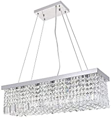 💡 Luxurious Chandelier Art Decor Design----The Amazing K9 Crystal modern Rectangle Rain Drop Chandelier Lighting is a gorgeous ceiling light fixture which is far more stunning than the picture. This superior quality Crystal Chandelier is absolutely F...