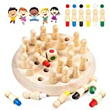 Diealles Shine Ajedrez de Memoria, Ajedrez de Palo de Memoria de Madera, DiversióN Bloque Juego de Mesa Juguete Educational Parent-Child Leisure Fun Toy