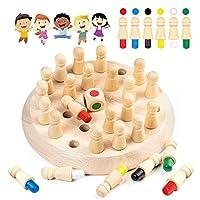 Diealles Shine GedäChtnis-Schach Holz, Kinder Memory Match Stick Schach Spiel, Schachspiel Lernspielzeug für Die Intellektuelle Entwicklung