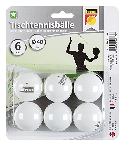 Idena 7440021 – Balles de Tennis de Table 1 étoile Multicolore
