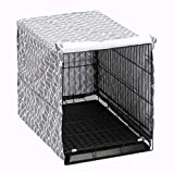 Dog Crate Cover for Wire Crates, Fits Most 48' inch Dog Crates. Easy to Put On, Take Off, and Adjust - Cover only -XXL
