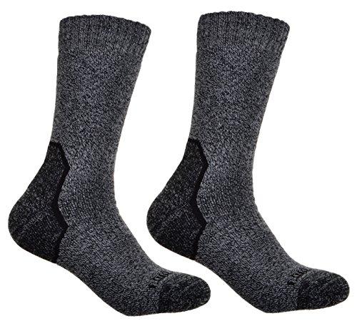 WB Socks 2 Paires de Chaussettes de Randonnée en Laine Coolmax