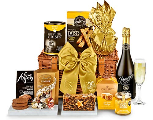 Highbury Hamper With Prosecco - Hand Wrapped Gourmet Food Basket, in Gift Hamper Box