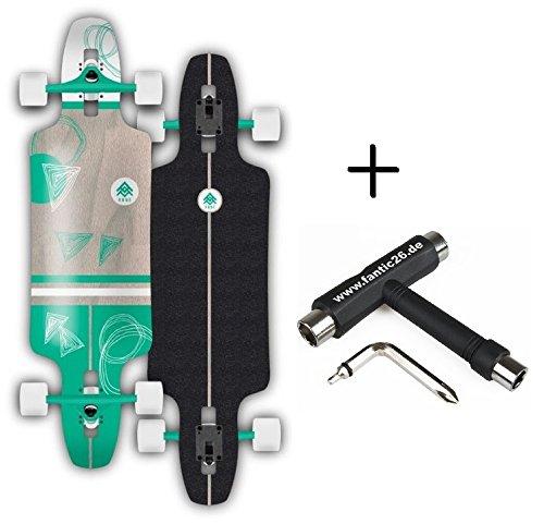 Rune Longboard komplett mit BOLZEN Achsen (Gram 24x102 cm + Fantic26 Skatetool)