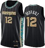 Movement Camiseta De Ja Morant, Uniforme De Baloncesto De Los Hombres De Memphis Grizzlies # 12 Nueva Temporada Chaleco Informal Transpirable Neutral Sin Mangas Camiseta(Size:/M,Color:G1)