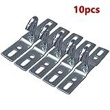 Kathleen0 eiling Hook 10pcs Wall Iron Accessories Fitting Screws Mount Flower Basket Base Plate Pendant Heavy Duty Hanging Light handelier Holder