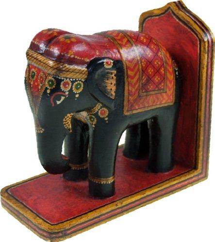Guru-Shop Buchstütze Elefant, 17x8x17 cm, Türstopper & Buchstützen