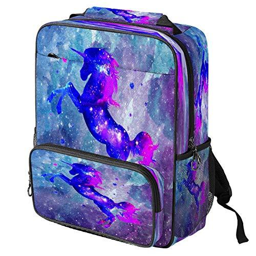 Mochila escolar informal con estampado de unicornio, mochila multifuncional, Patrón #1 (Multicolor) - backpacks013