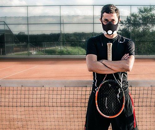 Phorb Training Mask schwarz Größe m Atemmaske für Crossfit Trainingsmaske steigert Ausdauer Fitness Kondition ähnelt Höhentraining - 5