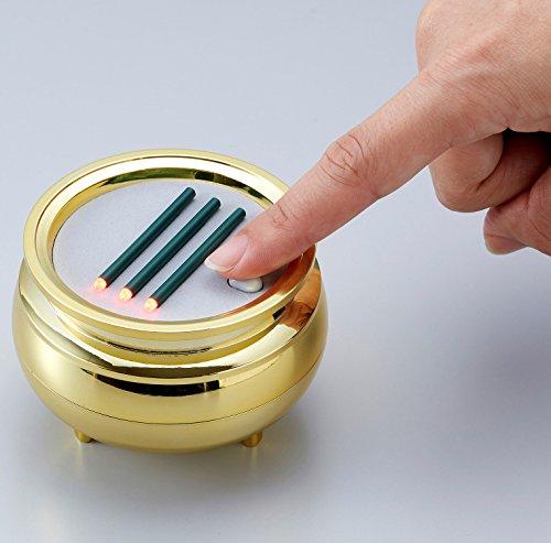 スマイルキッズ横置きの安心のお線香(中)ゴールドASE-4204GD