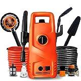 CRZJ Laveuse à Haute Pression, Machine de Lavage de Voiture électrique Portable Haute Pression 1200W avec système d'arrêt Automatique