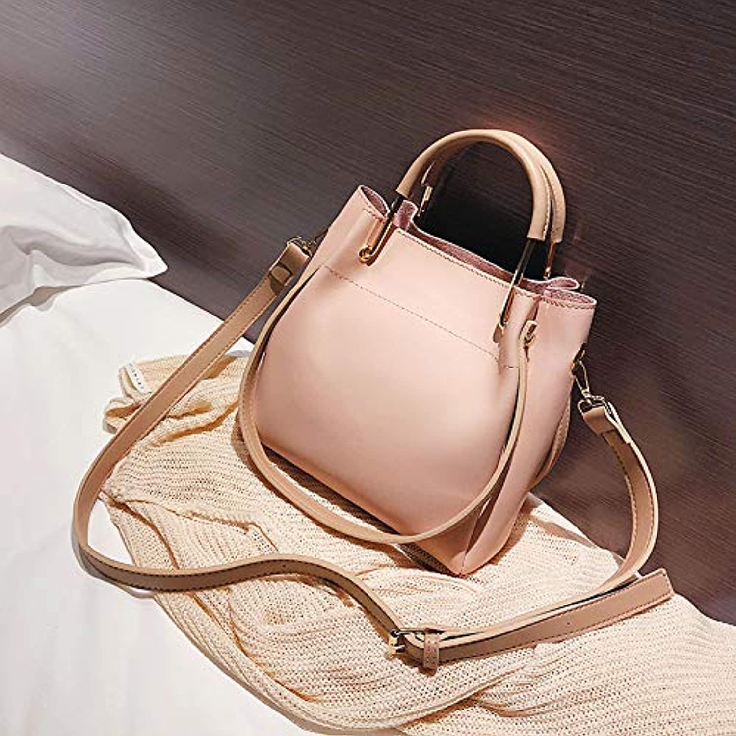 WANGZHAO Casual Soft Leather Handbag color Single Shoulder Bag