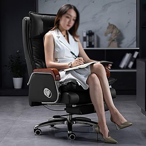 YDYBY Sedia Gaming Ergonomico Sedia Ufficio,con Poggiapiedi Sedia Scrivania Sedia direzionale Regolabile Schienale Cuscino Spesso Lombare Supporto Tavoli e sedie,Nero