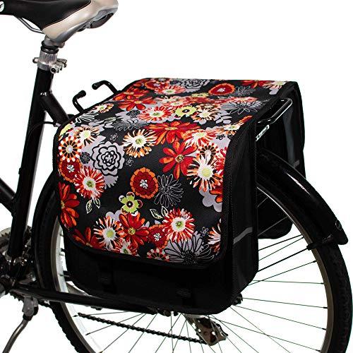 BikyBag Classic CL - Borsa da bicicletta doppia borsa da ciclismo moda da donna - uomo (The Meadows)