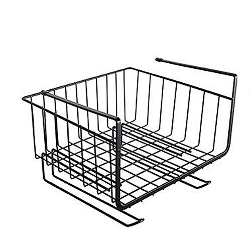 Múltiples compartimentos de cocina, cesta de almacenamiento de metal para colgar, soporte para toallas de papel, estante de almacenamiento de suspensión integrado, ahorro de espacio debajo d