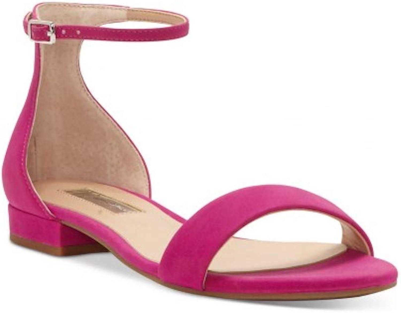 Inc Womens Yaffa Faux Leather Ankle Strap Flats Pink 8 Medium (B,M)
