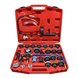 OIMERRY 28PCS Universal Radiator Pressure Tester for Vehicles, Vacuum Type Coolant System Pressure Leak Tester Kit