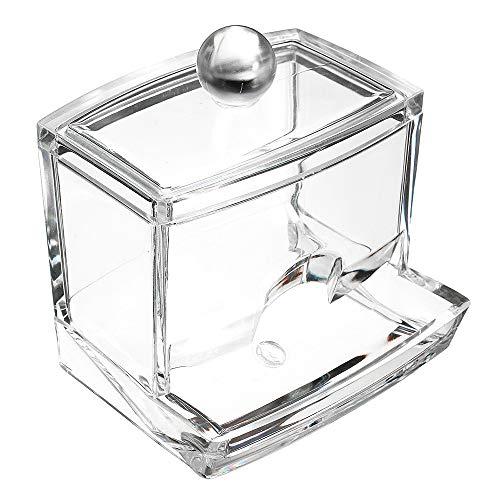 Naisidier Boîte de Rangement en boîte de Coton-Tige Transparente en Acrylique