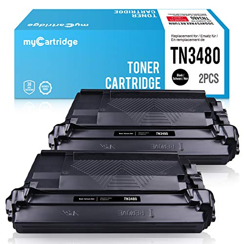 MyCartridg 2 Pack ucce di Toner Compatibili Brother TN-3480 TN3480 per Brother HL-L5000D L5100DN L5200DW L6200DW;DCP-L5500DN;MFC-L6800DW L6900DW (2*Nero)