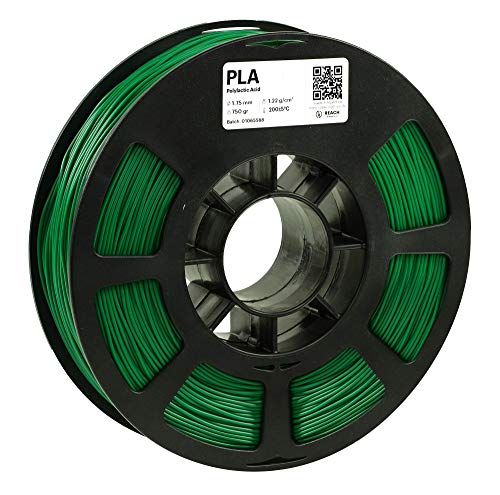 KODAK PLA Filament 1.75mm for 3D Printer, Green PLA, Dimensional Accuracy +/- 0.03mm, 750g Spool (1.7lbs), 1.75 PLA Filament Used as 3D Filament Consumables to Refill Most FDM Printers