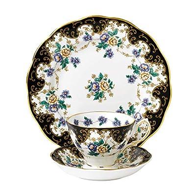 "Royal Albert 100 Years 1910 Teacup, Saucer & Plate Set, 8"", Multicolor ,3 Piece"