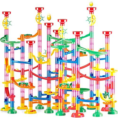UQTOO 262個 ビーズコースター 知育玩具 スロープ ルーピング セット 子供 組み立 DIY 積み木 室内遊び 男の子 女の子 誕生日のプレゼント ビー玉転がし おもちゃ ブロック