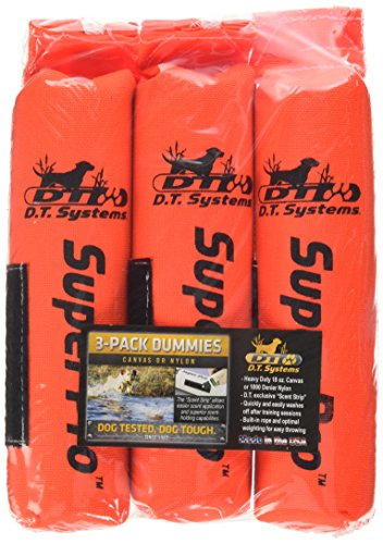For Sale! D.T. Systems Cordura Nylon Dog Training Dummy, Blaze Orange, Small, 2-Inch by 9-Inch 3 Pac...
