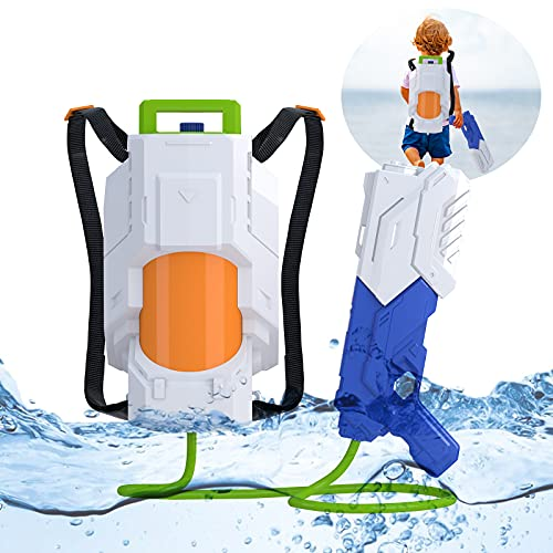 SNAEN Water Blaster with 2.5L High Capacity Backpack Tank Which has Adjustable Straps, Shooting for 30 feet, Space Weapon Toy for Summer Outdoor Activities Suitable for Boys and Girls 3 Years and Over