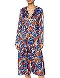 marchio amazon - find. abito longuette stampa astratta da donna, blu (retro print retro print), 40, label: xs