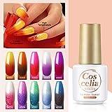 Coscelia UV Thermo Gellack Set 6pcs*7ml selbst auswählbar UV Nagellack Set UV Nagellack...